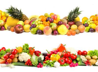 здоровое питание - овощи фрукты